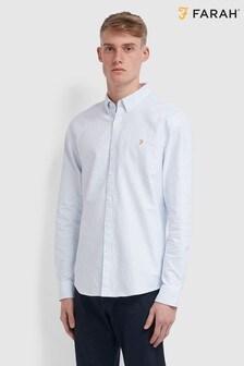 Farah Blue Brewer Stripe Shirt