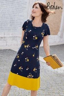 Boden Navy Erica Ponte Dress