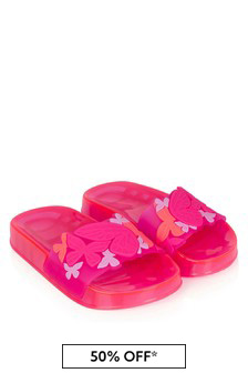 Sophia Webster Girls Pink Butterfly Jelly Sliders