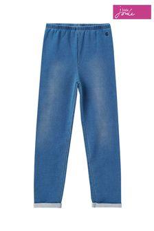Joules Blue Minnie Jersey Denim Leggings