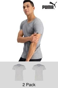 Puma® Basic Men's V-Neck T-Shirts 2 Pack