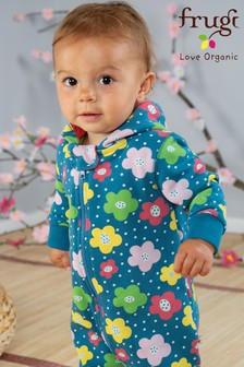 Frugi GOTS Organic Floral Brushback All-In-One