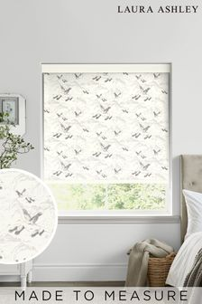 Laura Ashley Silver Animalia Made To Measure Roller Blind