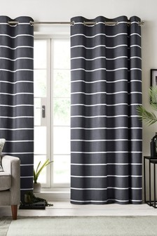 Stripe Eyelet Curtains