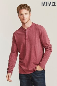 FatFace Purple Woodside Slub Henley T-Shirt