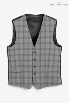 Bi-Stretch Check Suit: Waistcoat