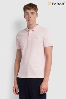 Farah Pink Pique Poloshirt