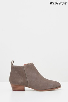 White Stuff Grey Willow Suede Ankle Boots