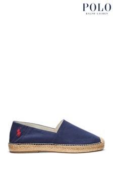 Polo Ralph Lauren Navy Cevio Slip Logo Espadrilles