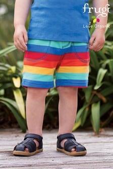 Frugi Organic Cotton Rainbow Stripe Jersey Shorts