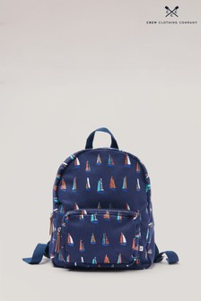 Crew Clothing Blue Mini Canvas Backpack