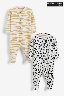 Myleene Klass Baby Organic Cotton Sleepsuits 2 Pack