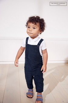 The White Company Blue Corduroy Dungarees