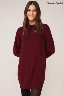 Phase Eight Red Nalani Cardigan Stitch Tunic Dress