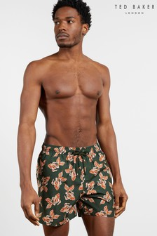 Ted Baker Fear Fish Printed Swim Shorts
