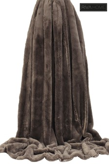 Empress Reversible Faux Fur Throw by Riva Home