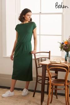Boden Green Odile Jersey Midi Dress