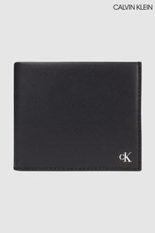 Calvin Klein Black Leather Bifold Wallet