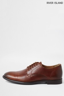 River Island Brown Casual Derby Shoes