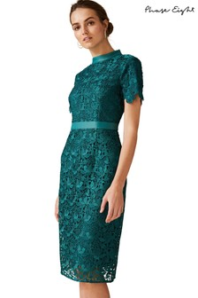 Phase Eight Green Marietta Guipure Lace Dress