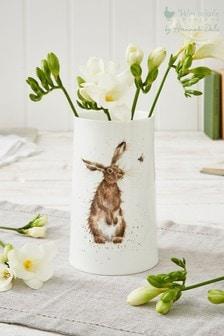 Royal Worcester White Wrendale Medium Hare Vase