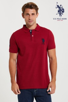 U.S. Polo Assn. Red DHM Large Pique Poloshirt