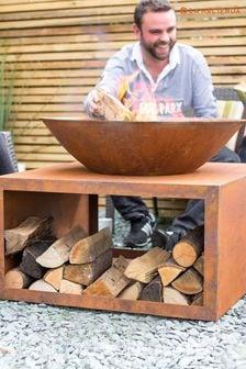 Moho Oxidised Firepit With Steel Stand By La Hacienda