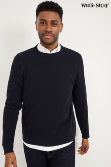 White Stuff Blue Cane Crew Jumper