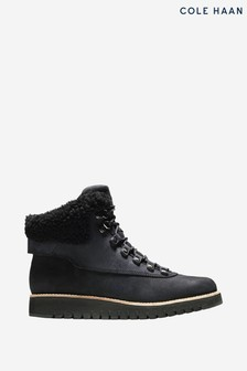 Cole Haan Black Zerogrand Explore Hiker Lace-Up Boots