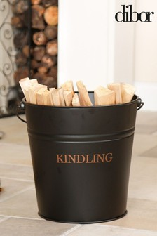 Balmoral Black And Copper Kindling Bucket by Dibor