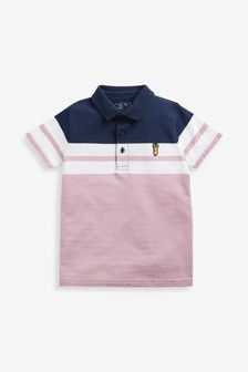 Colourblock Short Sleeve Polo (3-16yrs)