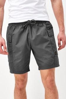 Lightweight Drawstring Cargo Shorts