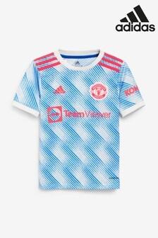 adidas Blue Manchester United Kids Away 21/22 Football T-Shirt