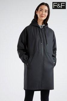F&F Black Rubber Raincoat