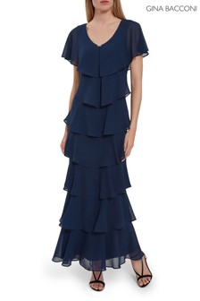 Gina Bacconi Areka Tiered Maxi Dress