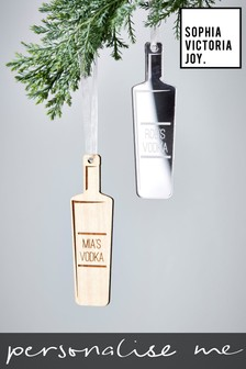 Personalised Vodka Christmas Decoration by Sophia Victoria Joy