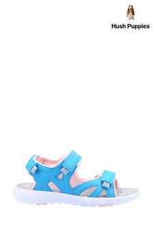 Hush Puppies Blue Lilly Quarter Strap Sandals