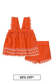 Baby Girls Red Cotton Outfit