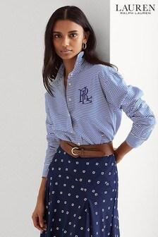 Lauren Ralph Lauren® Blue Stripe Cotton Kotta Shirt