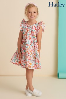 Hatley White Summer Blooms Cake Dress