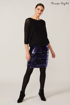 Phase Eight Blue Geonna Sequin Knit Dress