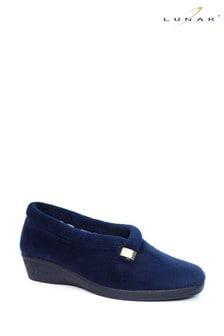 Lunar Blue Ladies Full Slippers