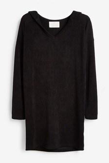Textured Jersey Hoody Dress