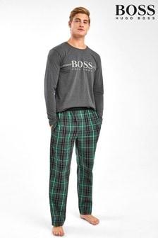 BOSS Grey Urban Long Pyjama Set