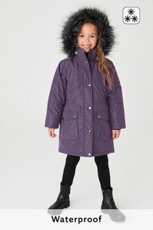 Waterproof Faux Fur Trim Parka (3-16yrs)