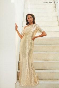 Gina Bacconi Erin Sequin Maxi Dress