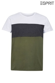 Esprit Green Block Stripe T-Shirt