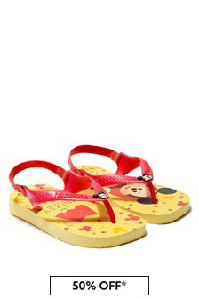 Havaianas Baby Boys Yellow Mickey Mouse Flip Flops