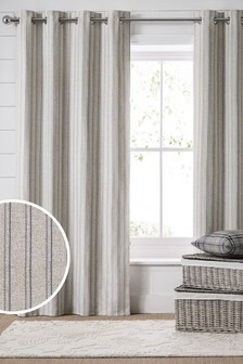Vintage Stripe Eyelet Curtains