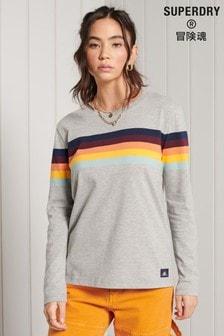 Superdry Cali Stripe Long Sleeve Top